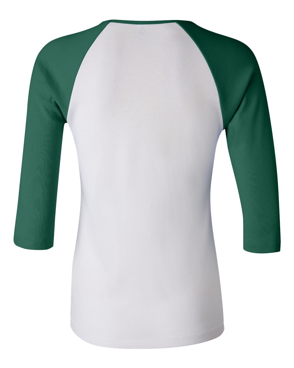 Bella-Canvas-Womens-Stretch-Rib-3-4-Sleeve-Contrast-Raglan-T-Shirt-B2000 thumbnail 17