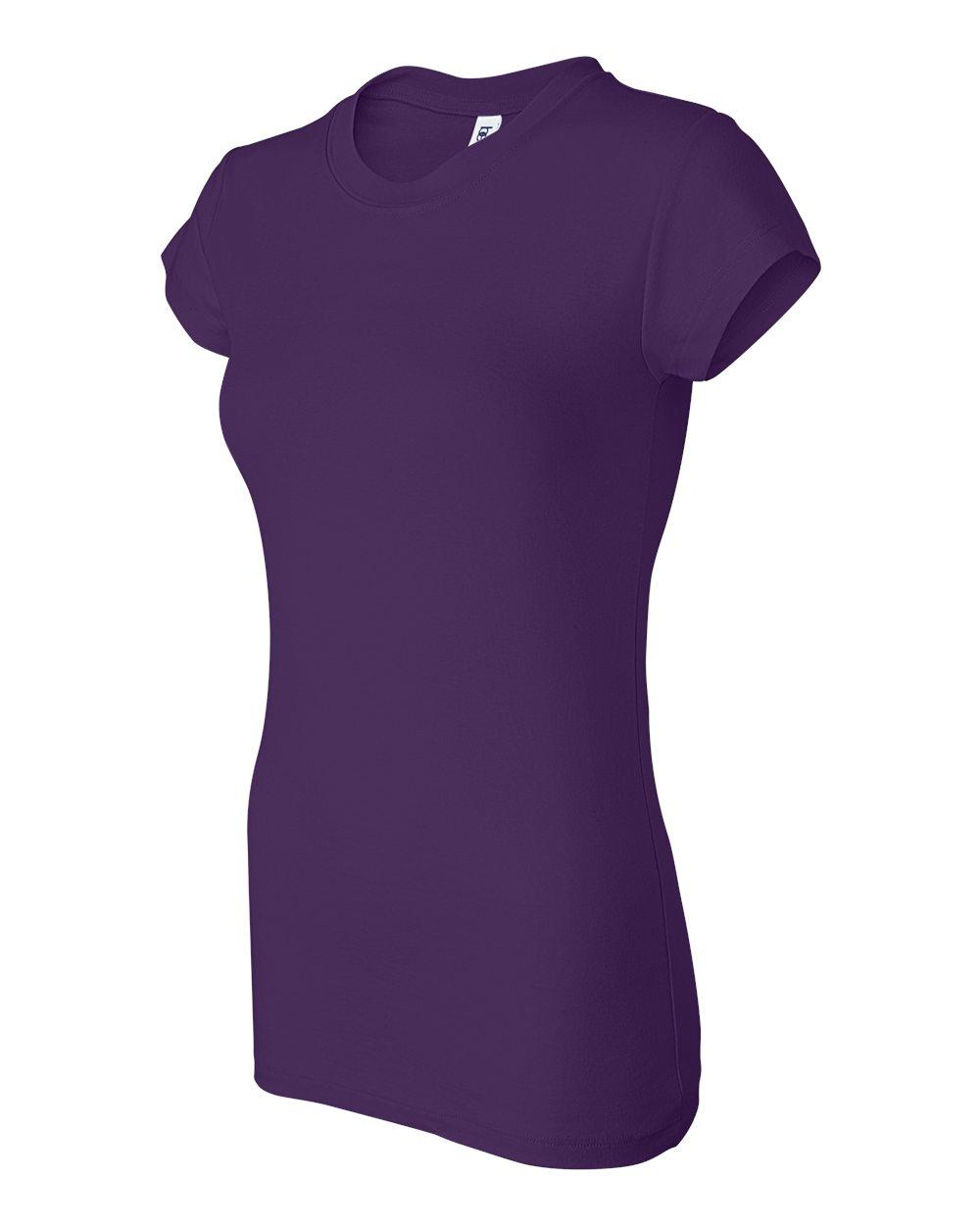 Bella-Canvas-Women-039-s-Sheer-Mini-Rib-Short-Sleeve-T-Shirt-8701-S-2XL thumbnail 30