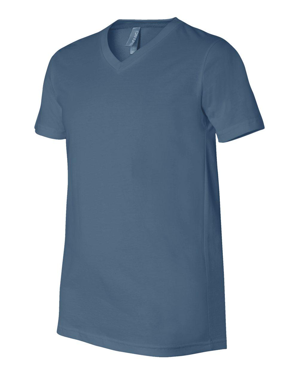 Bella-Canvas-Men-039-s-Jersey-Short-Sleeve-V-Neck-T-Shirt-3005-XS-3XL thumbnail 18