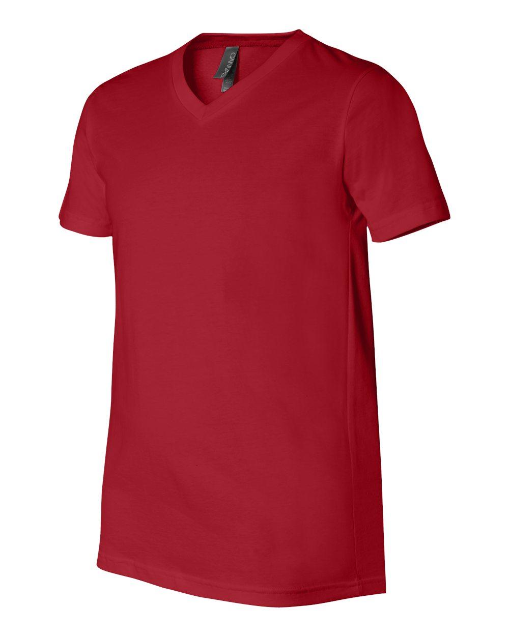 Bella-Canvas-Men-039-s-Jersey-Short-Sleeve-V-Neck-T-Shirt-3005-XS-3XL thumbnail 27