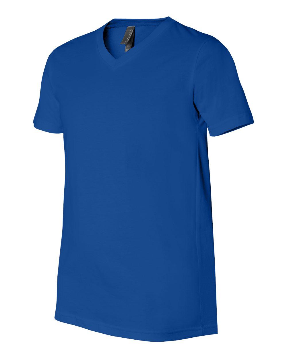 Bella-Canvas-Men-039-s-Jersey-Short-Sleeve-V-Neck-T-Shirt-3005-XS-3XL thumbnail 100