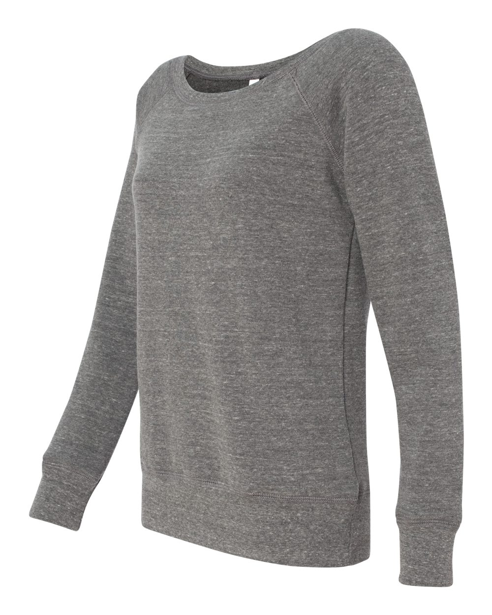 Bella Canvas Womens Sponge Fleece Wide Neck Sweatshirt - GREY TRIBLEND,M 7501