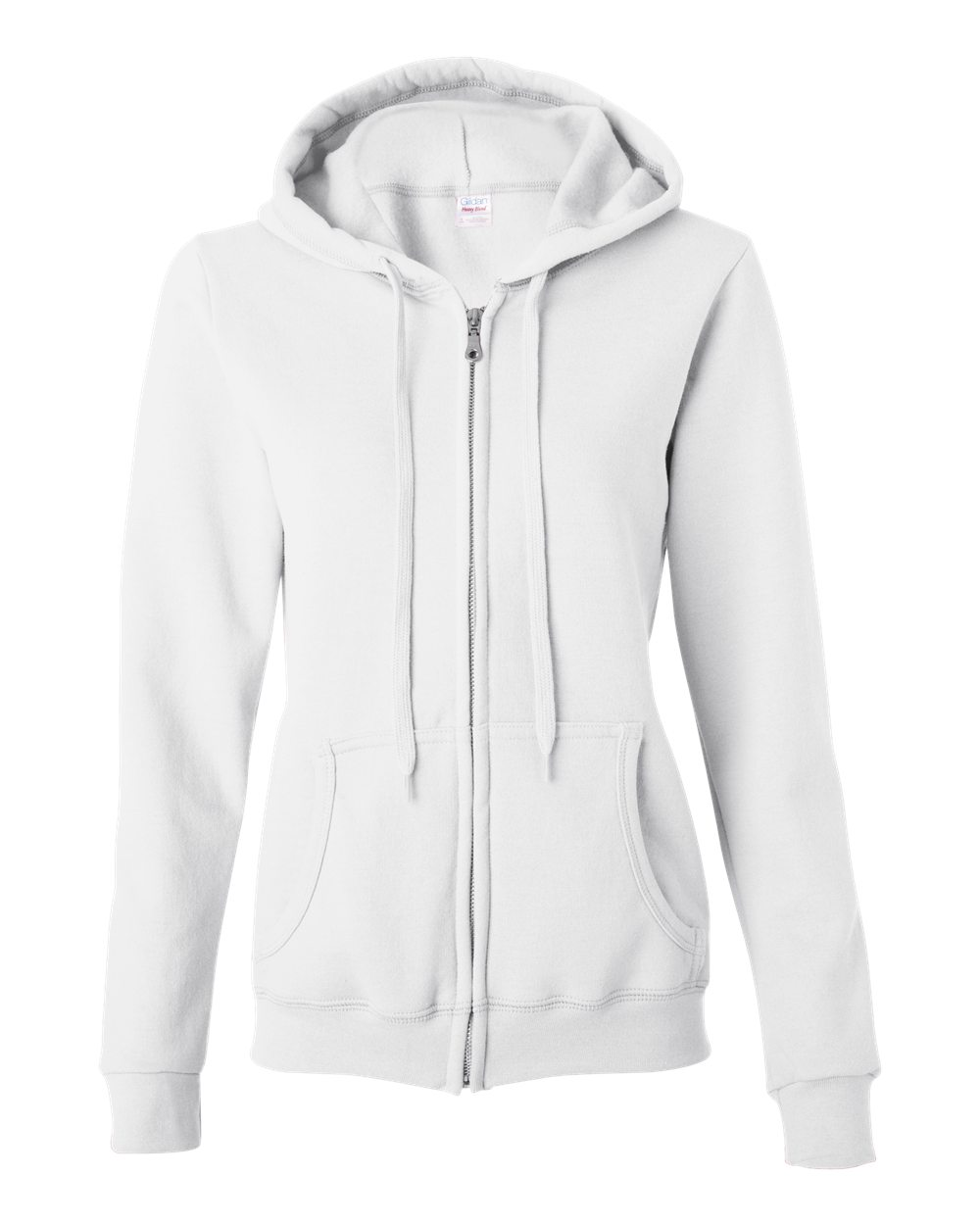 Gildan Heavy Blend Ladies Missy Fit Full-zip Hooded Sweatshirt ...