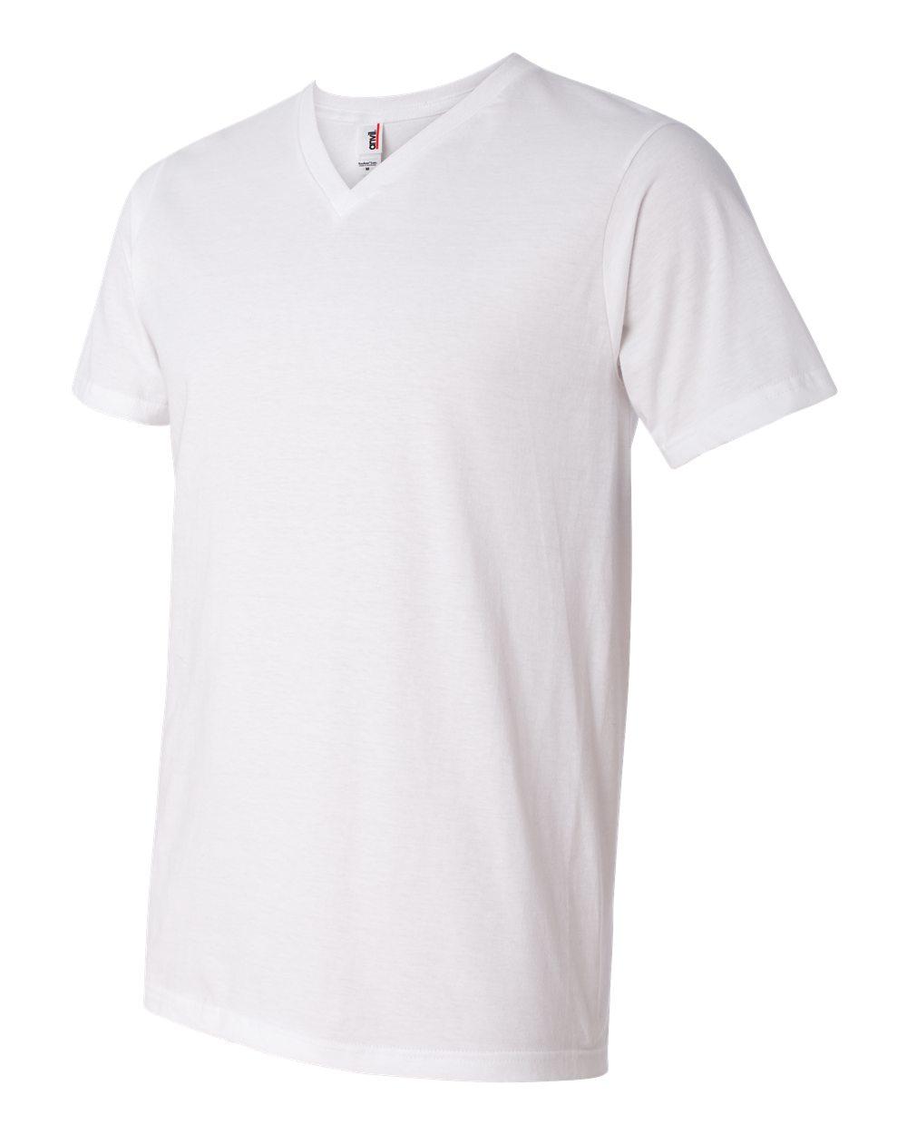 Anvil-Men-039-s-Lightweight-V-Neck-T-Shirt-982-S-3XL thumbnail 30