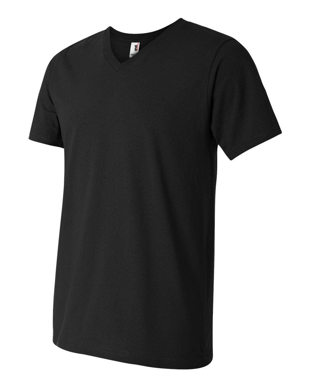 Anvil-Men-039-s-Lightweight-V-Neck-T-Shirt-982-S-3XL thumbnail 27