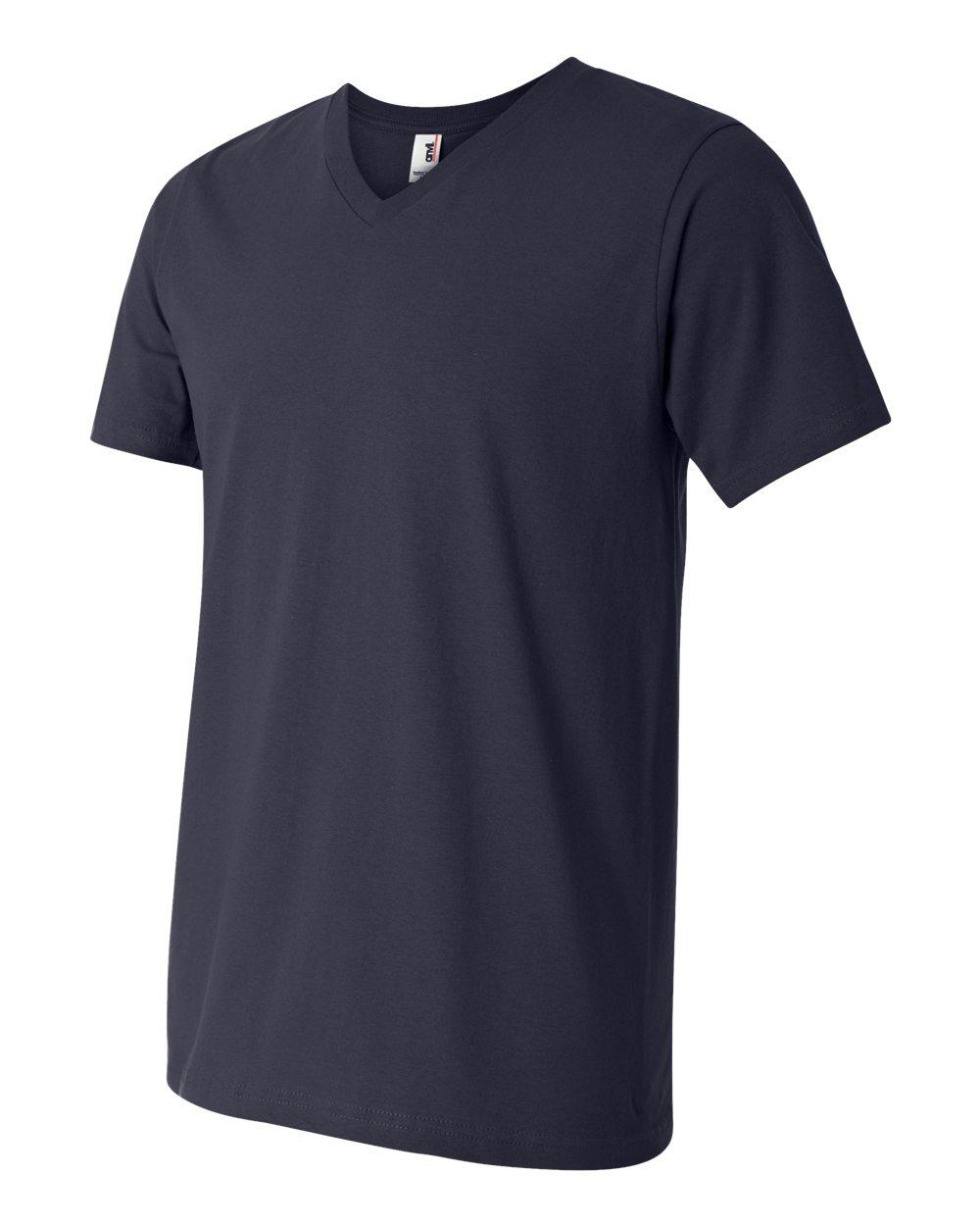 Anvil-Men-039-s-Lightweight-V-Neck-T-Shirt-982-S-3XL thumbnail 18