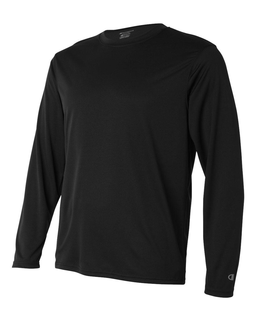 Champion-Men-039-s-Double-Dry-4-1-oz-Long-Sleeve-Interlock-T-Shirt-CW26-XS-3XL thumbnail 4