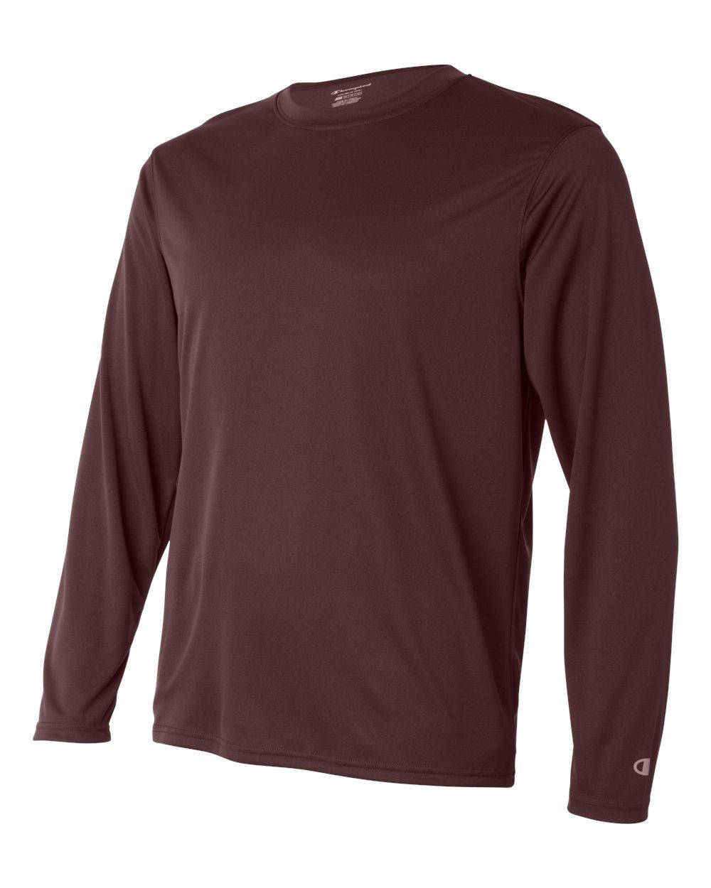 Champion-Men-039-s-Double-Dry-4-1-oz-Long-Sleeve-Interlock-T-Shirt-CW26-XS-3XL thumbnail 10