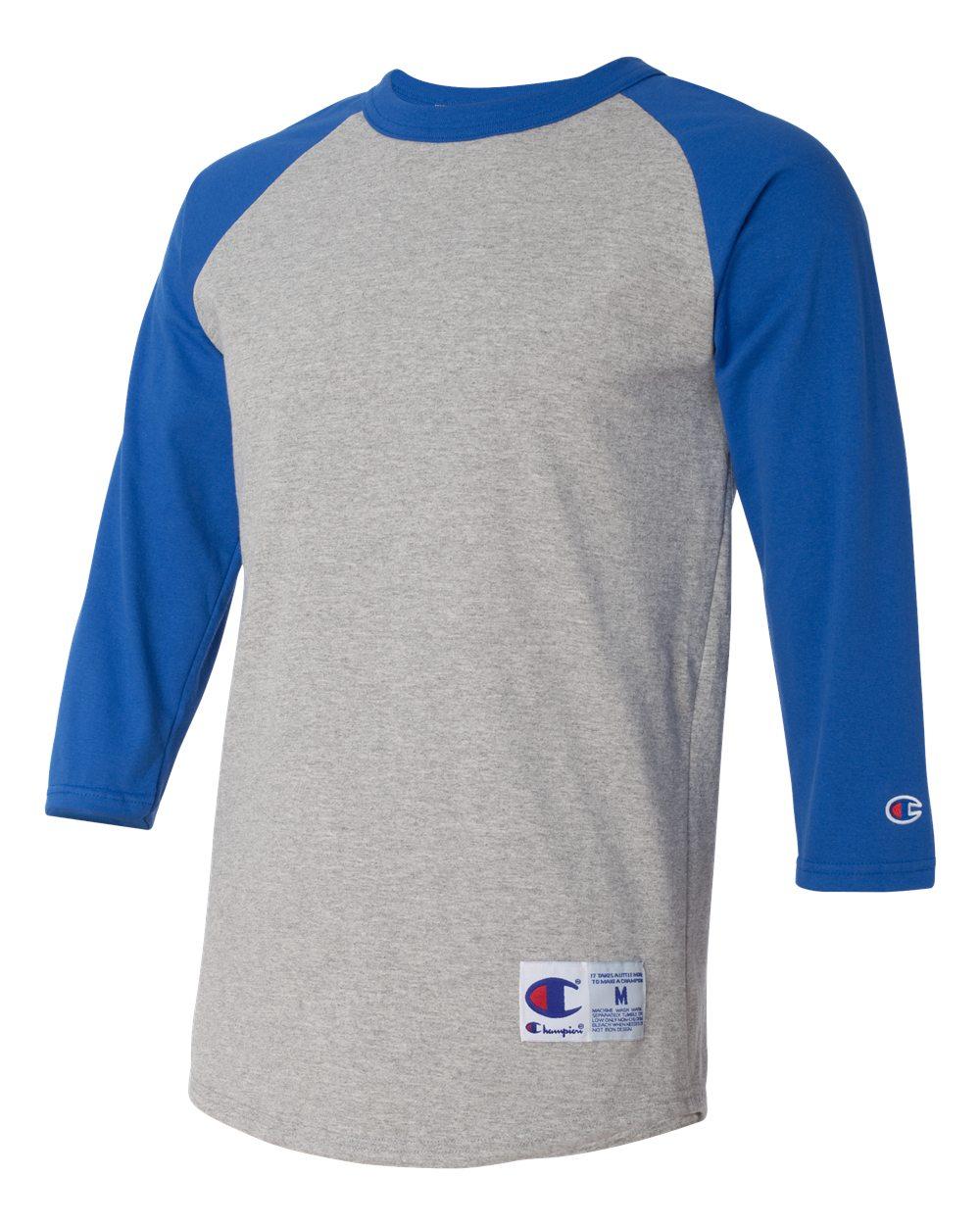 Champion Men s 5.2 oz. Raglan Baseball T-Shirt T1397 S-3XL  7134f7faf