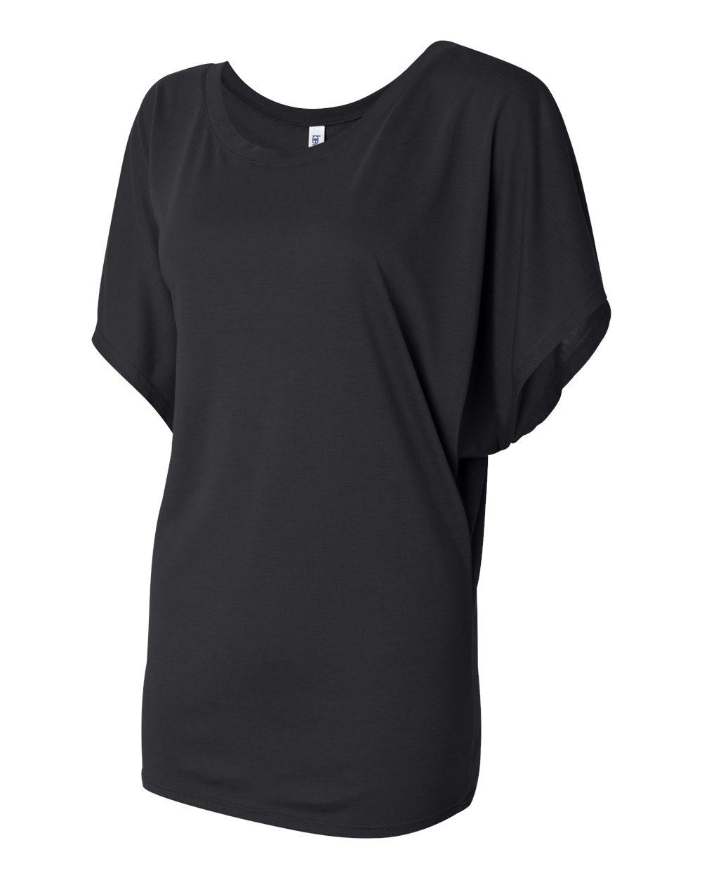 Bella-Canvas-Women-039-s-Flowy-Draped-Sleeve-Dolman-T-Shirt-8821-S-2XL thumbnail 3