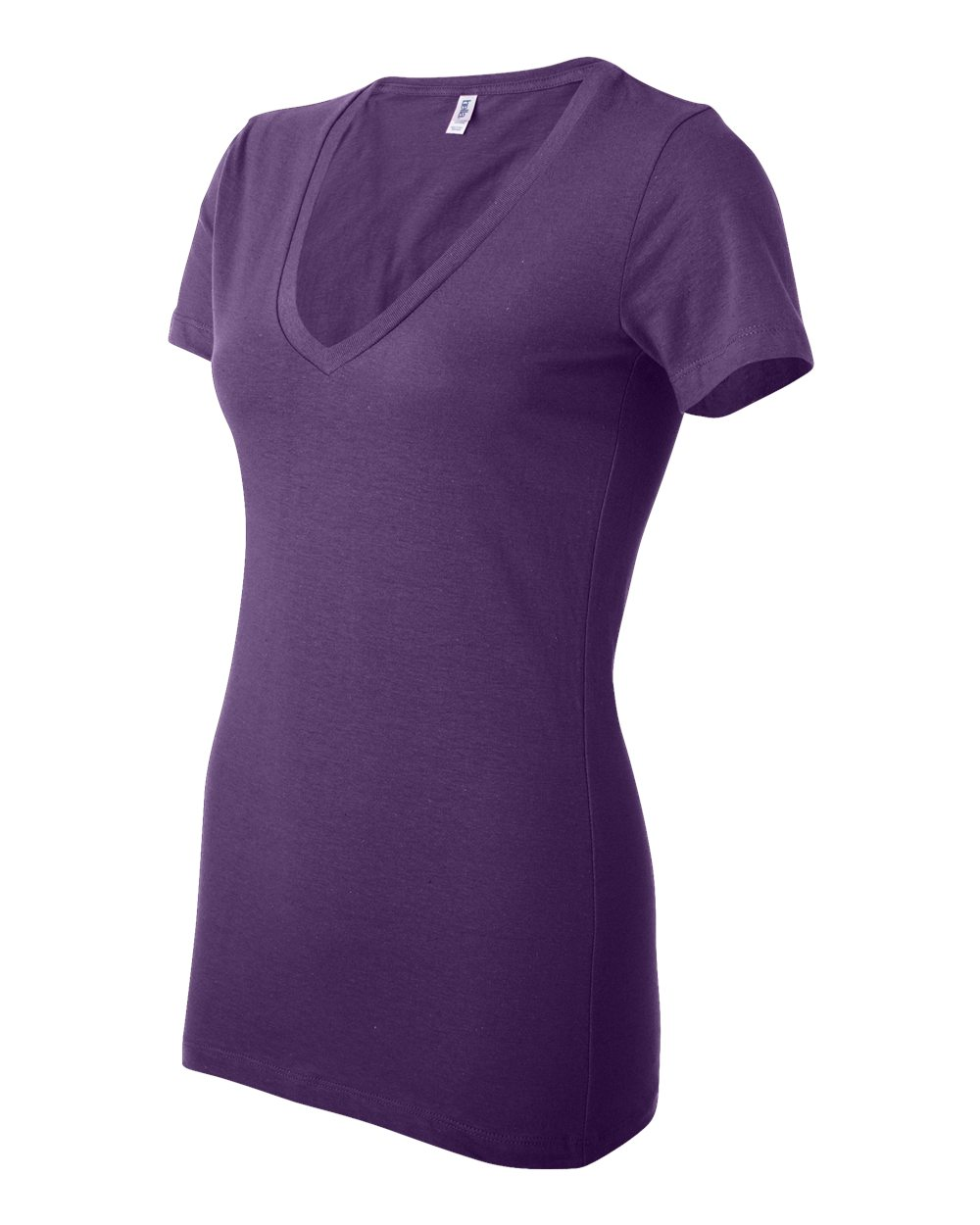 Bella-Canvas-Women-039-s-Jersey-Short-Sleeve-Deep-V-Neck-T-Shirt-B6035-S-2XL thumbnail 6