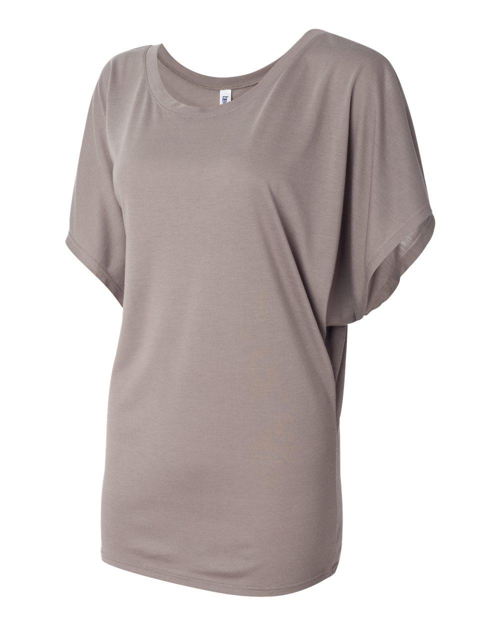 Bella-Canvas-Women-039-s-Flowy-Draped-Sleeve-Dolman-T-Shirt-8821-S-2XL thumbnail 6