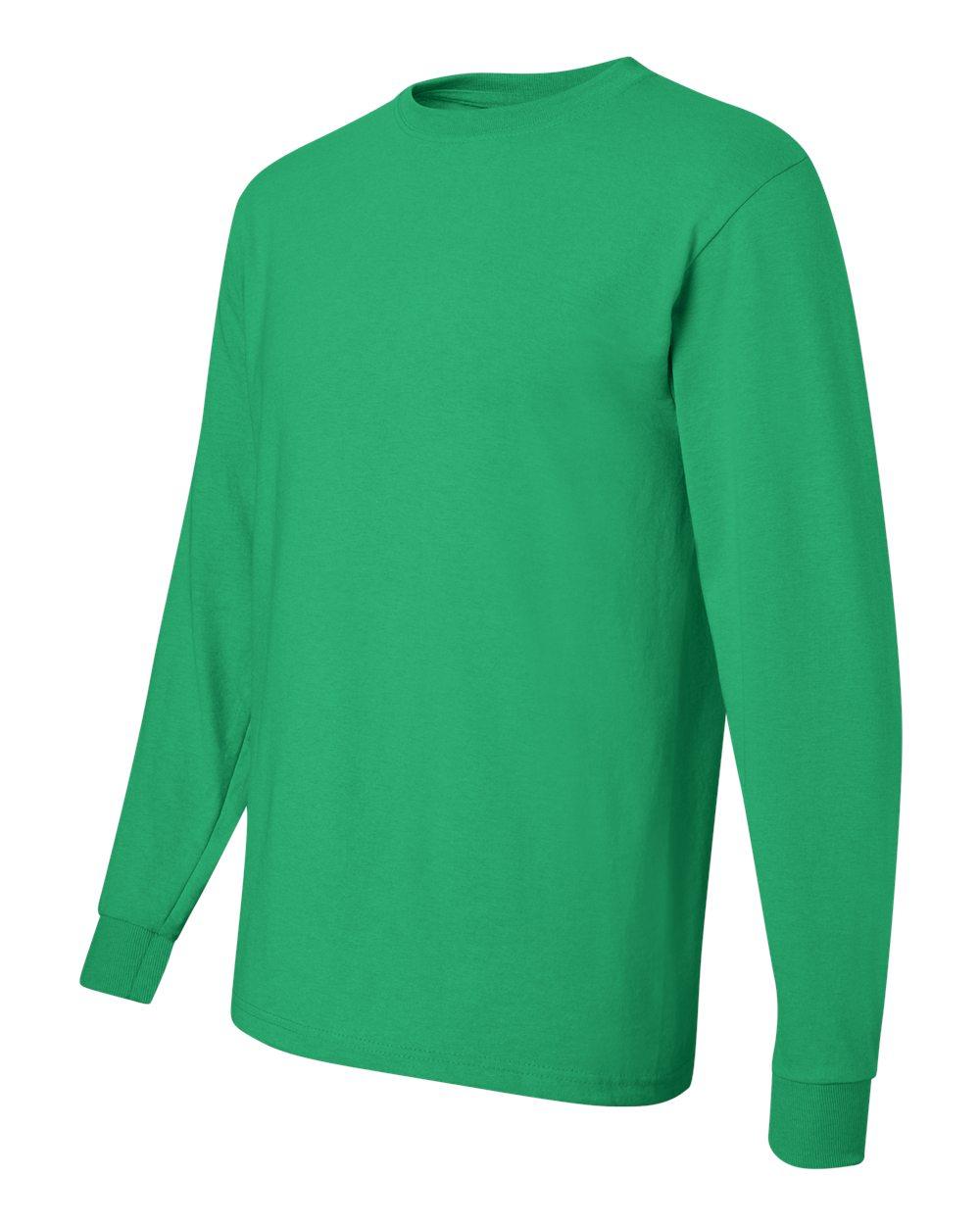 Heavyweight Cotton Long-Sleeve T-Shirt J Navy Jerzees 5.6 oz L