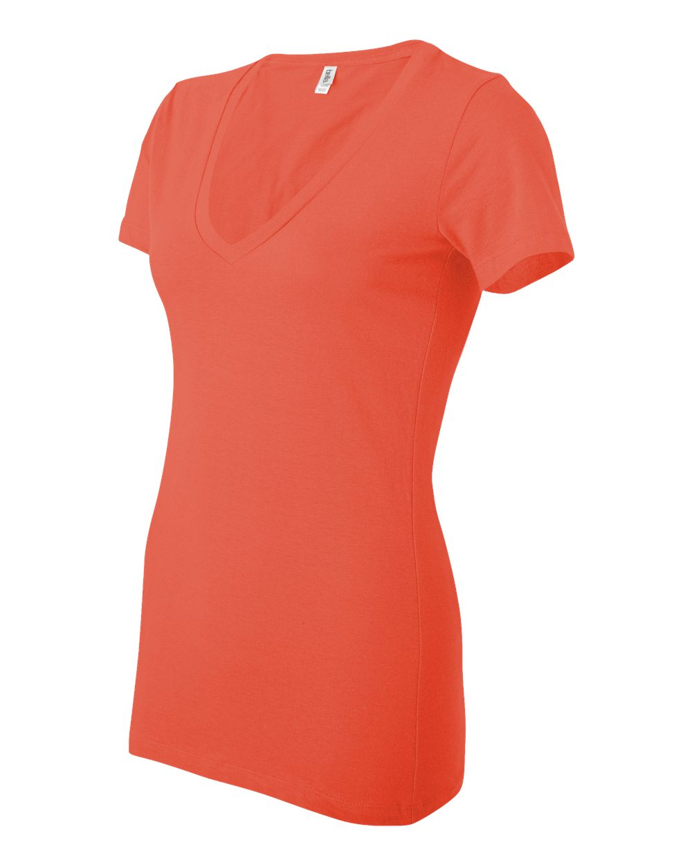 Bella-Canvas-Women-039-s-Jersey-Short-Sleeve-Deep-V-Neck-T-Shirt-B6035-S-2XL thumbnail 81