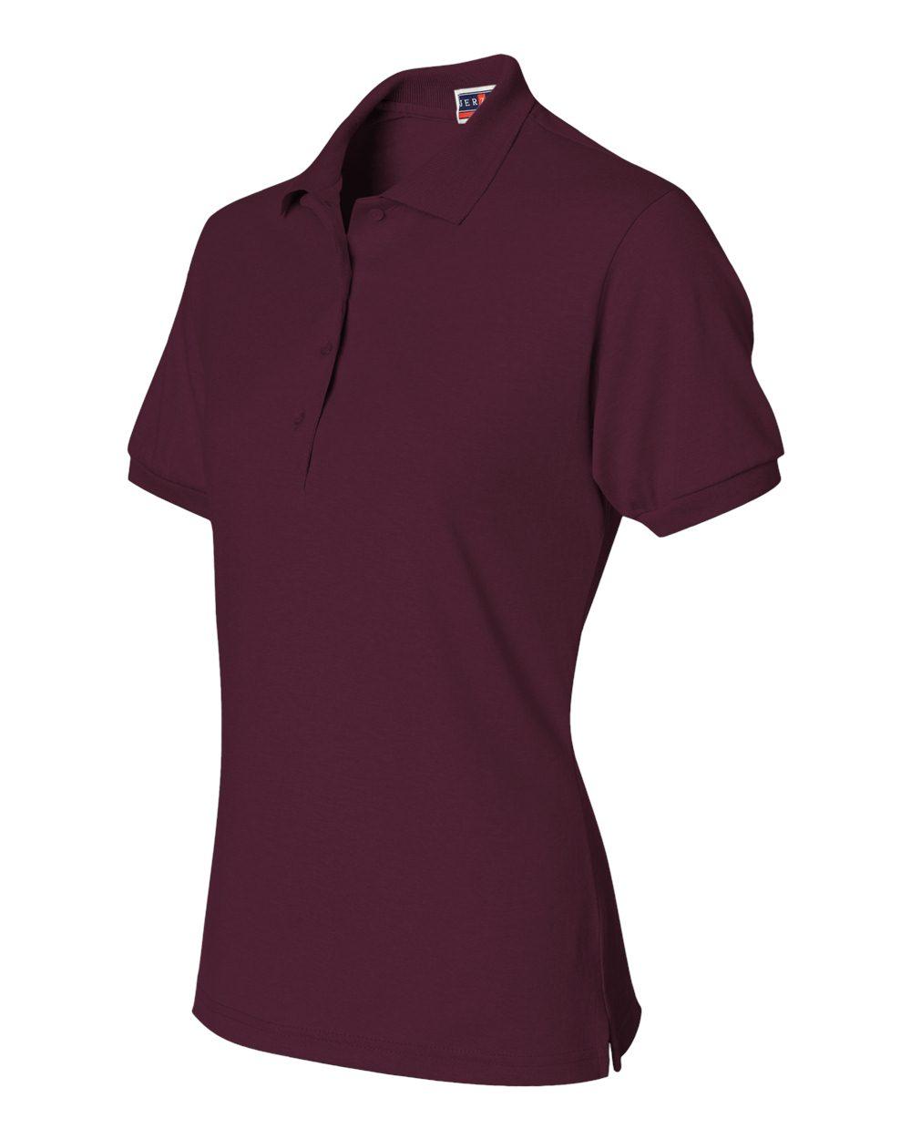 Jerzees-Womens-5-6-oz-50-50-Jersey-Polo-with-Spot-Shield-437W-Size-S-2XL thumbnail 44