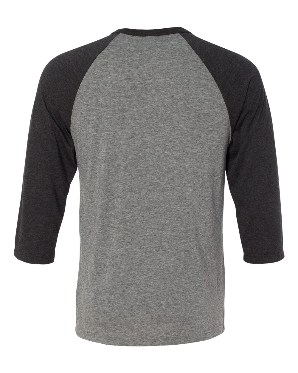 Plain Black T Shirt Back View