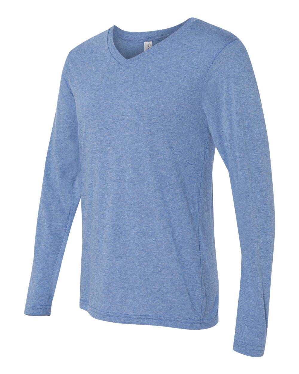 Bella-Canvas-Unisex-Jersey-Long-Sleeve-V-Neck-T-Shirt-3425-XS-2XL thumbnail 18
