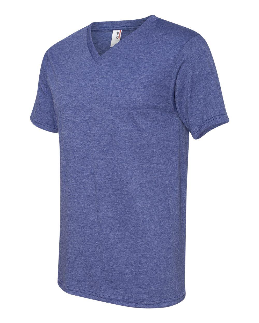 Anvil-Men-039-s-Lightweight-V-Neck-T-Shirt-982-S-3XL thumbnail 12