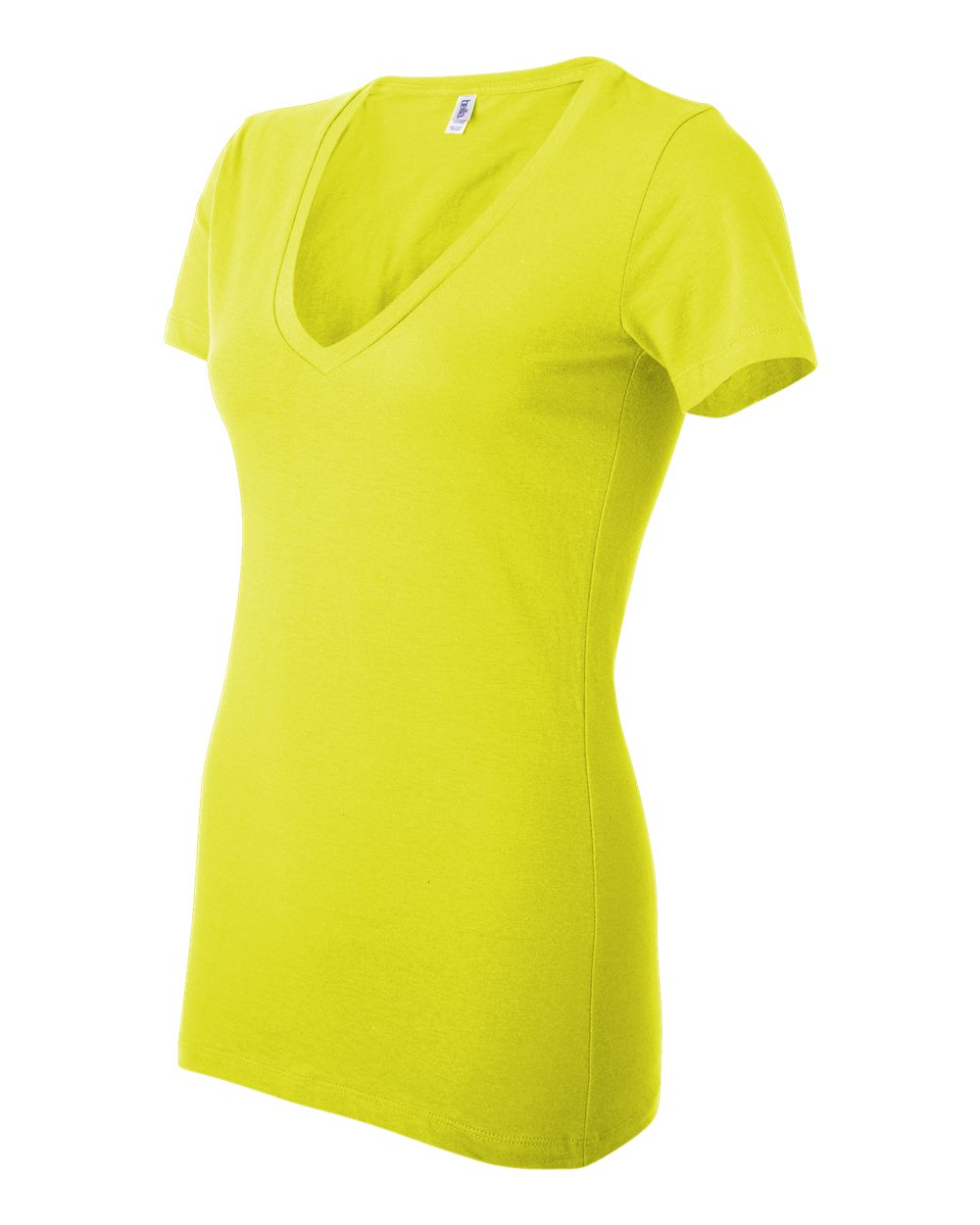 Bella-Canvas-Women-039-s-Jersey-Short-Sleeve-Deep-V-Neck-T-Shirt-B6035-S-2XL thumbnail 33