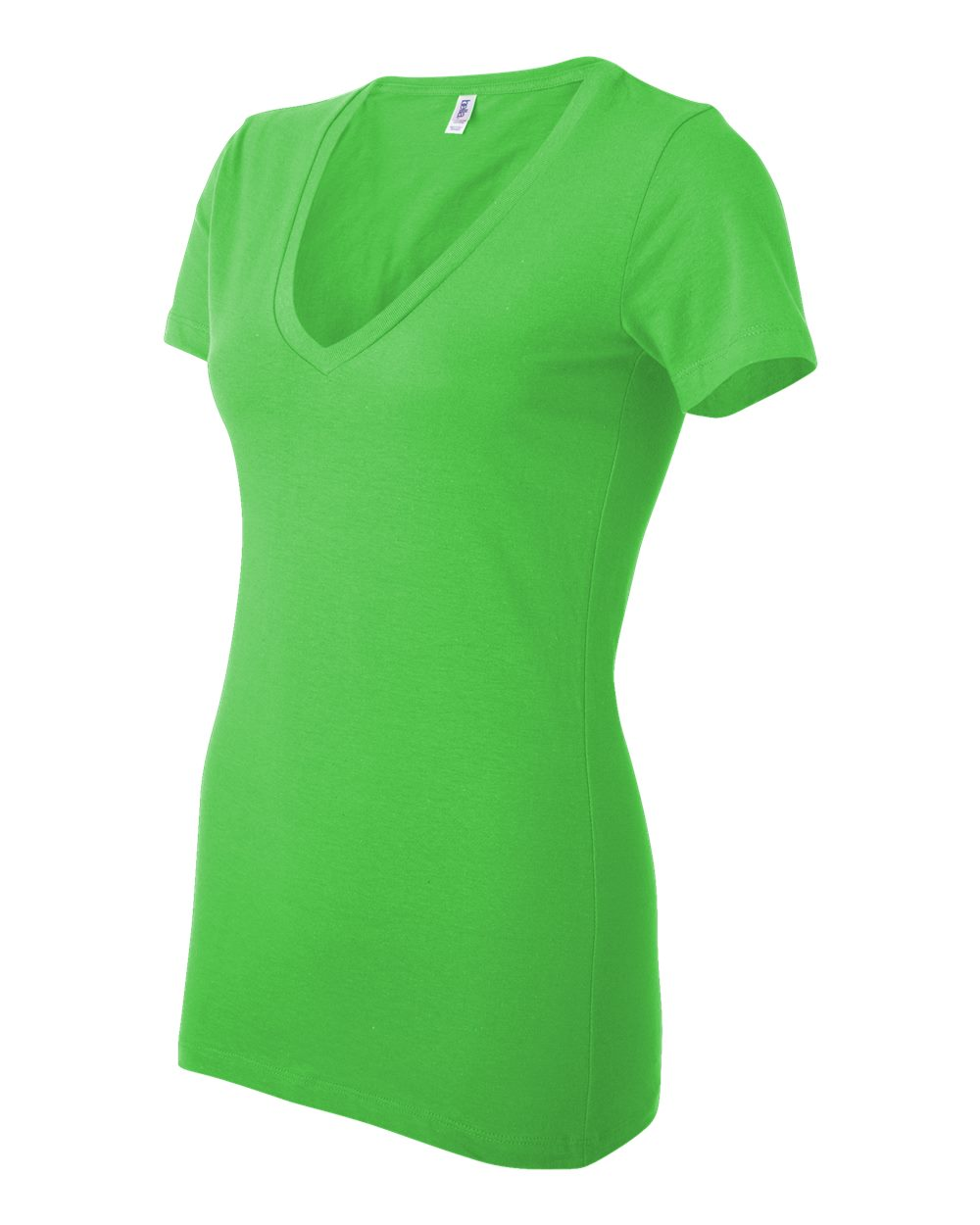 Bella-Canvas-Women-039-s-Jersey-Short-Sleeve-Deep-V-Neck-T-Shirt-B6035-S-2XL thumbnail 42