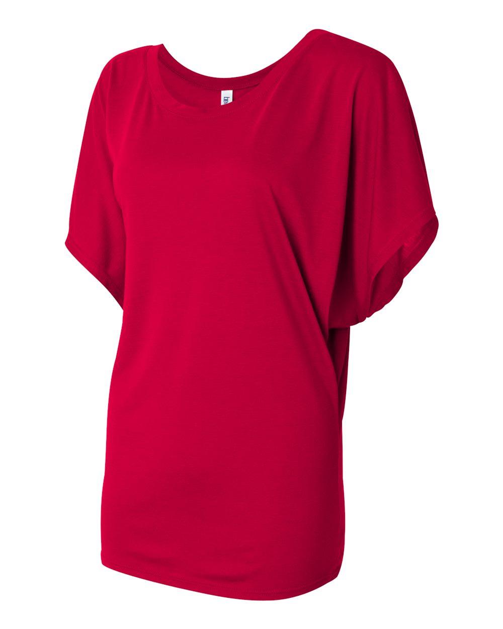 Bella-Canvas-Women-039-s-Flowy-Draped-Sleeve-Dolman-T-Shirt-8821-S-2XL thumbnail 33
