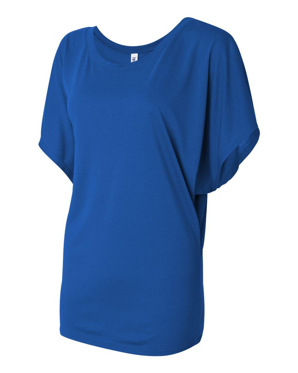 Bella-Canvas-Women-039-s-Flowy-Draped-Sleeve-Dolman-T-Shirt-8821-S-2XL thumbnail 36