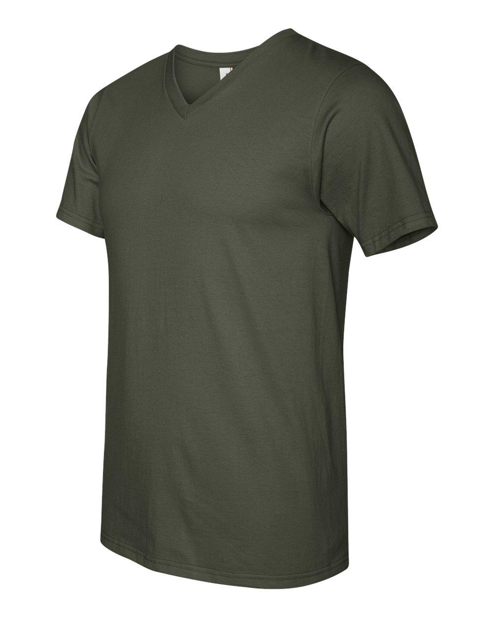 Anvil-Men-039-s-Lightweight-V-Neck-T-Shirt-982-S-3XL thumbnail 9