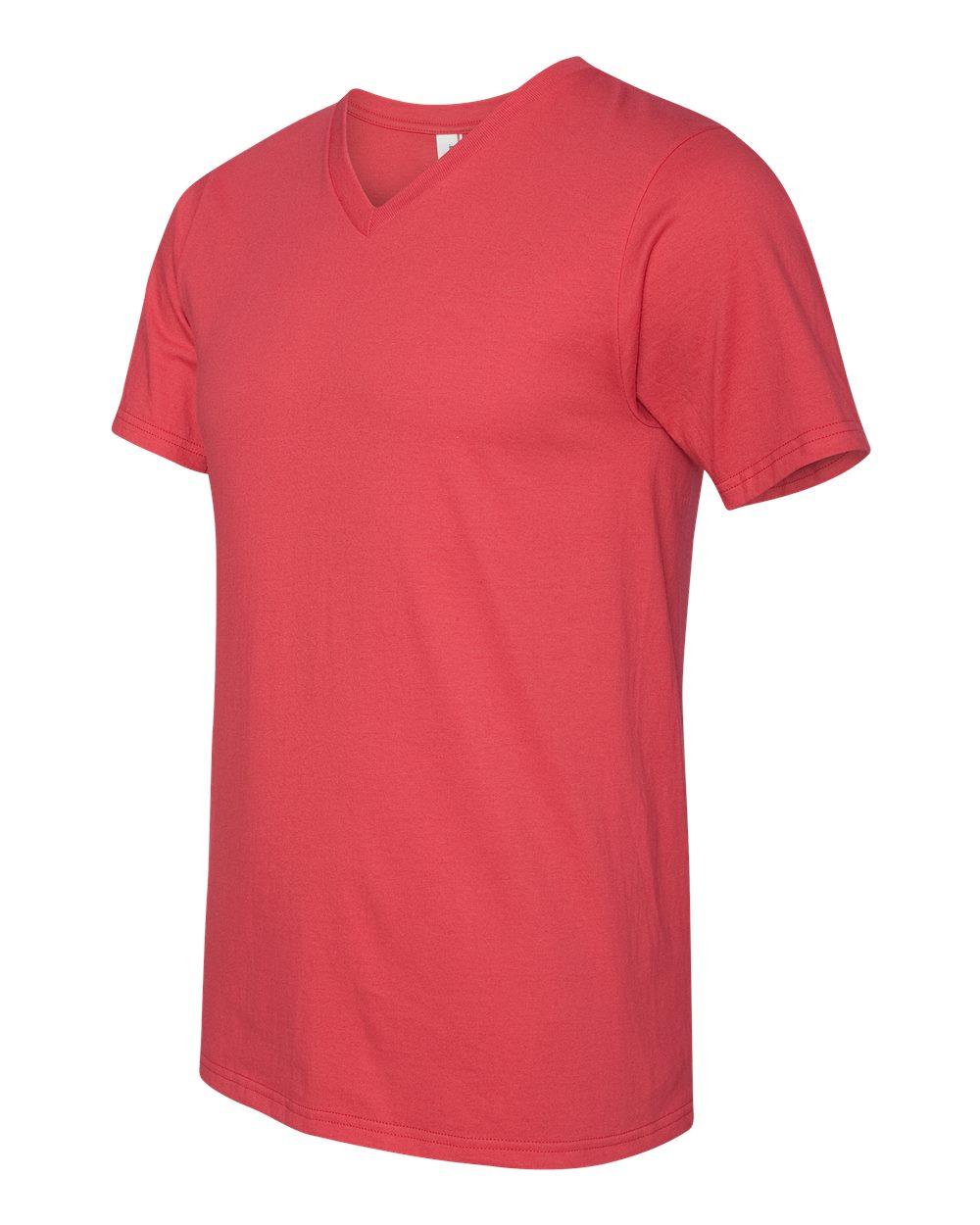 Anvil-Men-039-s-Lightweight-V-Neck-T-Shirt-982-S-3XL thumbnail 21