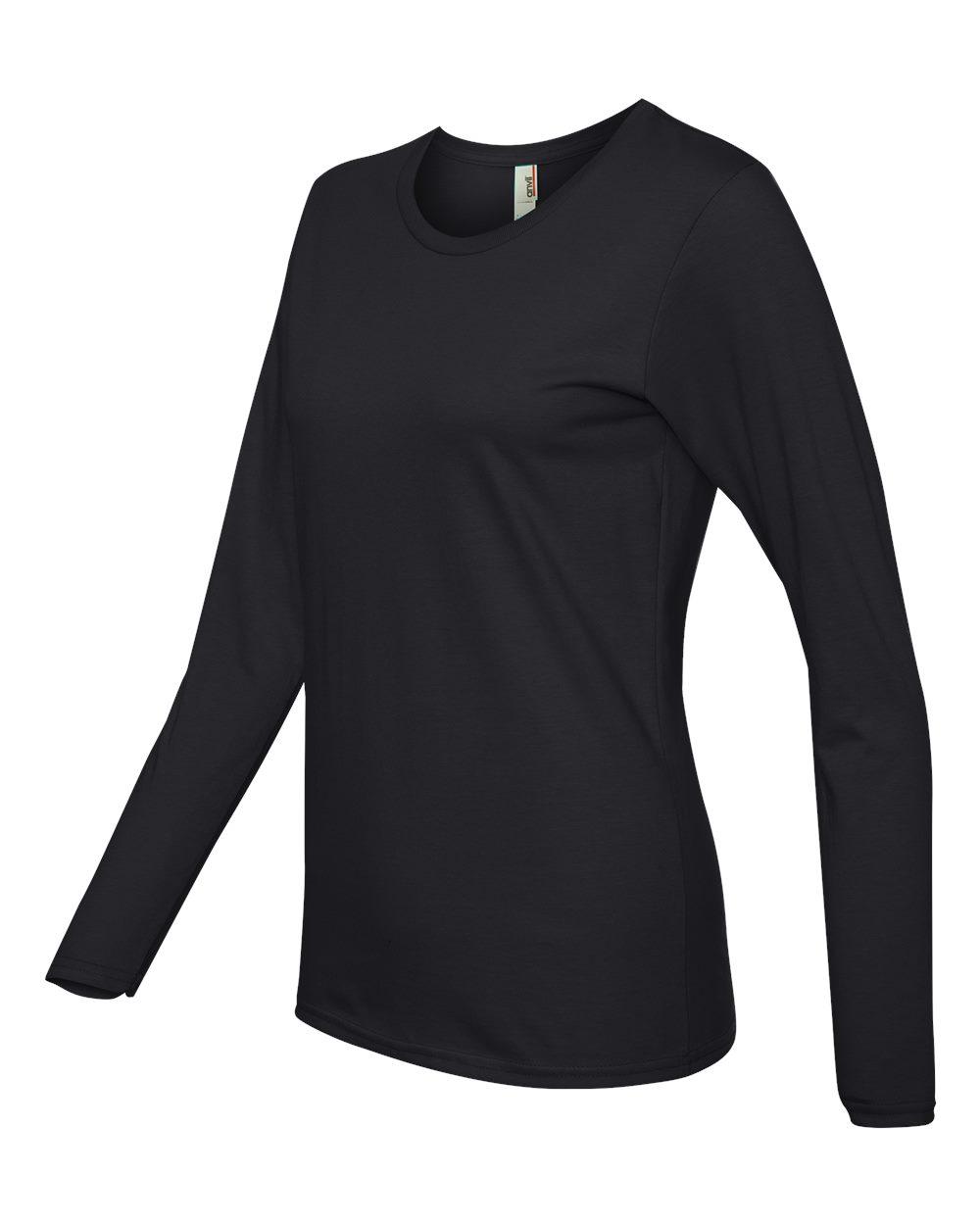 Anvil-Womens-Lightweight-Long-Sleeve-T-Shirt-884L-Size-S-2XL thumbnail 4