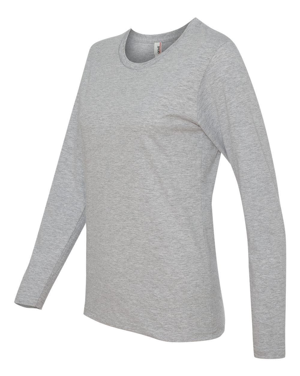 Anvil-Womens-Lightweight-Long-Sleeve-T-Shirt-884L-Size-S-2XL thumbnail 13