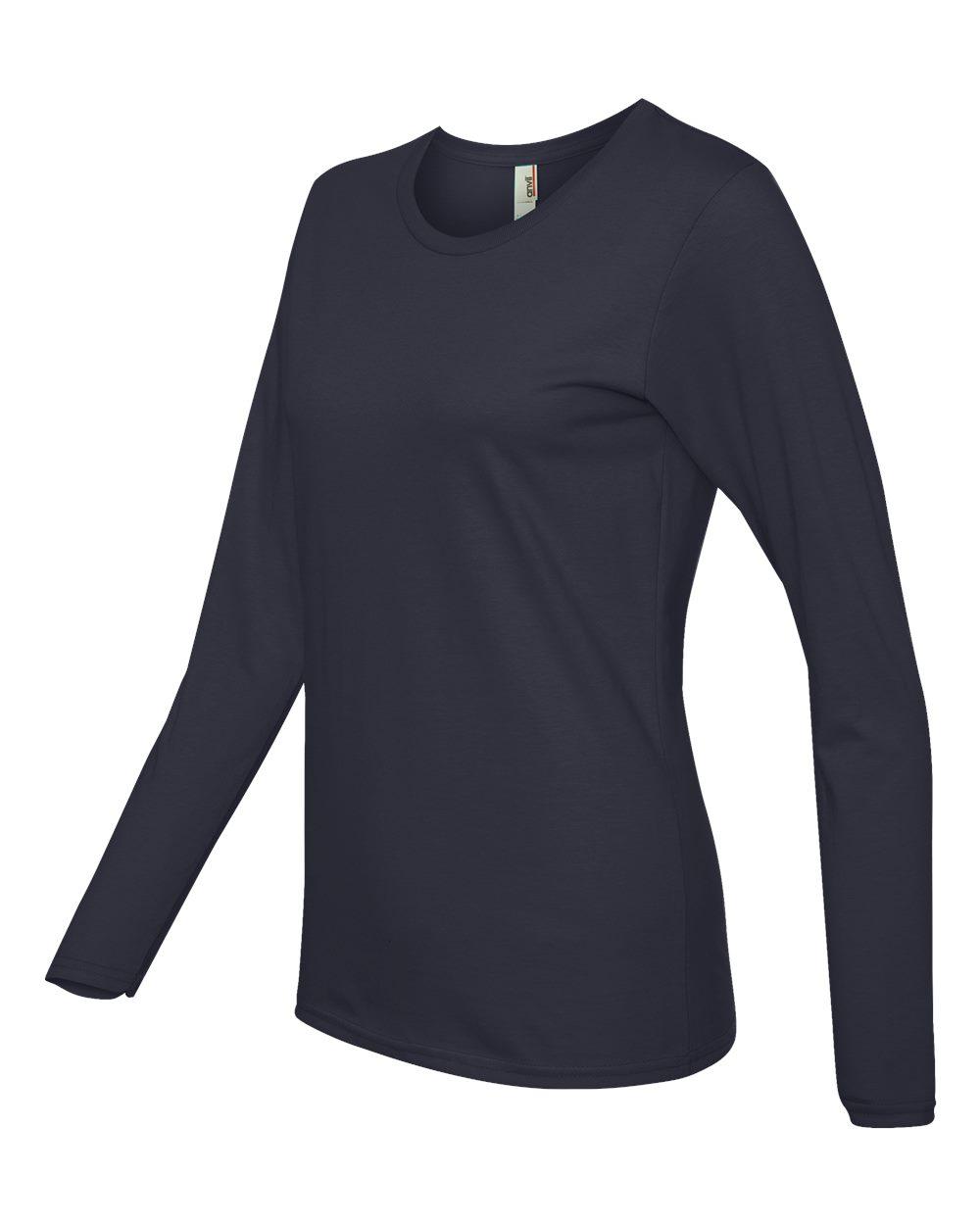 Anvil-Womens-Lightweight-Long-Sleeve-T-Shirt-884L-Size-S-2XL thumbnail 22