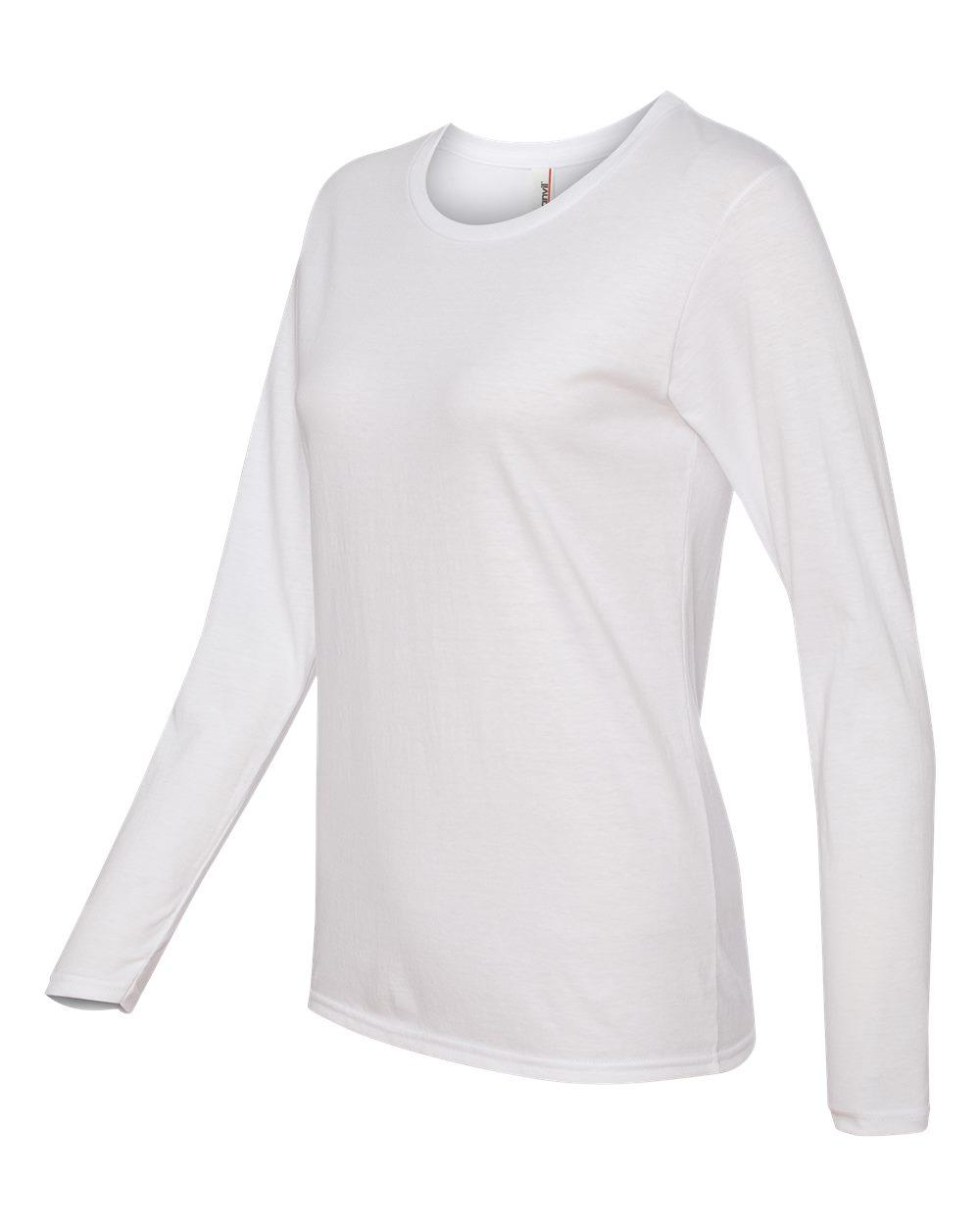 Anvil-Womens-Lightweight-Long-Sleeve-T-Shirt-884L-Size-S-2XL thumbnail 28