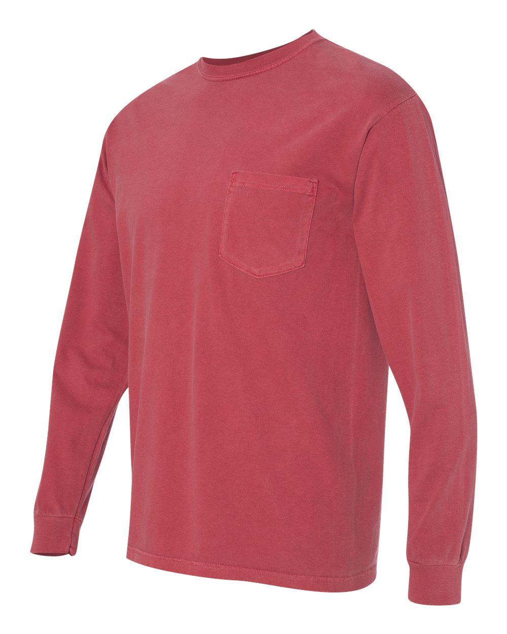 Comfort-Colors-Men-039-s-6-1-oz-Long-Sleeve-Pocket-T-Shirt-C4410-S-3XL thumbnail 11