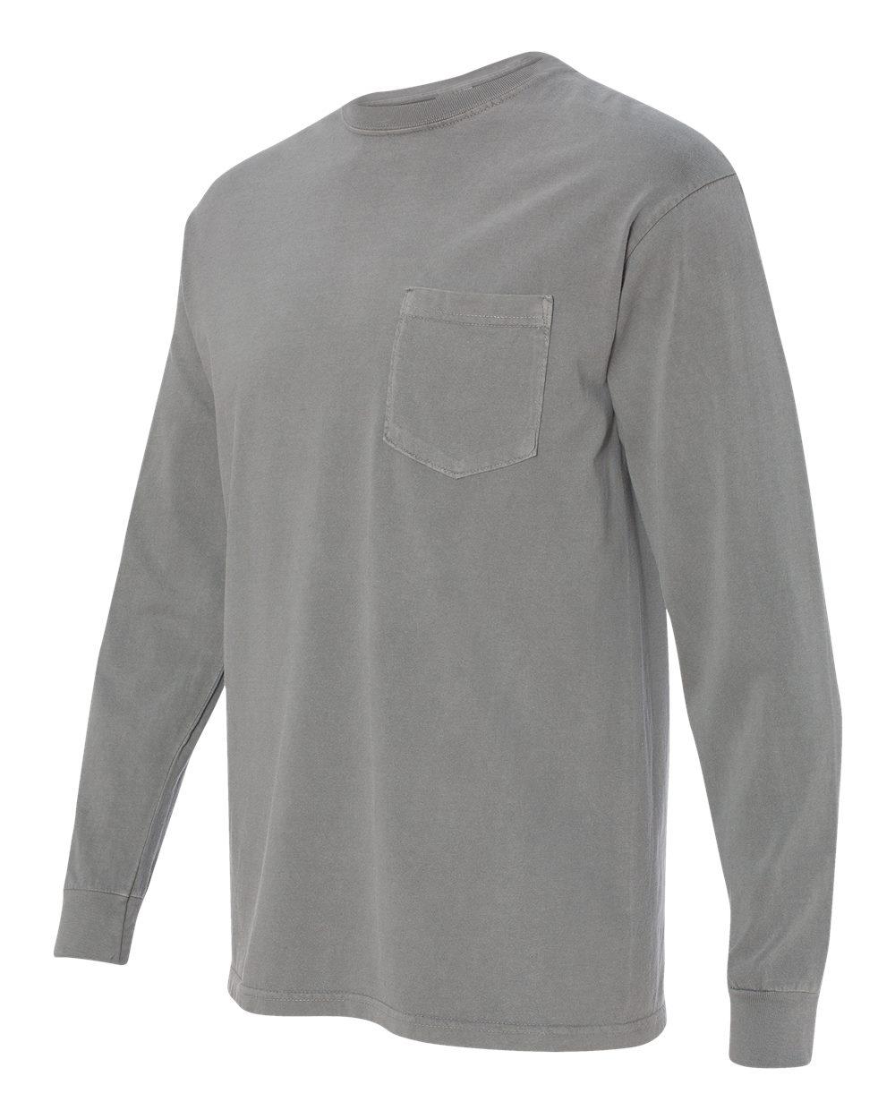Comfort-Colors-Men-039-s-6-1-oz-Long-Sleeve-Pocket-T-Shirt-C4410-S-3XL thumbnail 17
