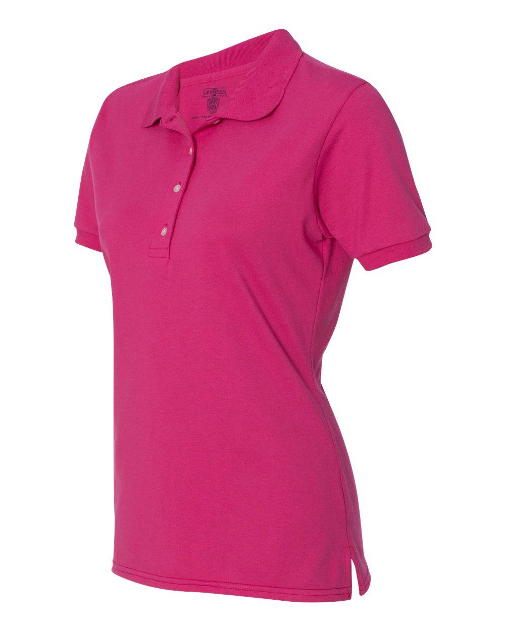Jerzees-Womens-5-6-oz-50-50-Jersey-Polo-with-Spot-Shield-437W-Size-S-2XL thumbnail 17