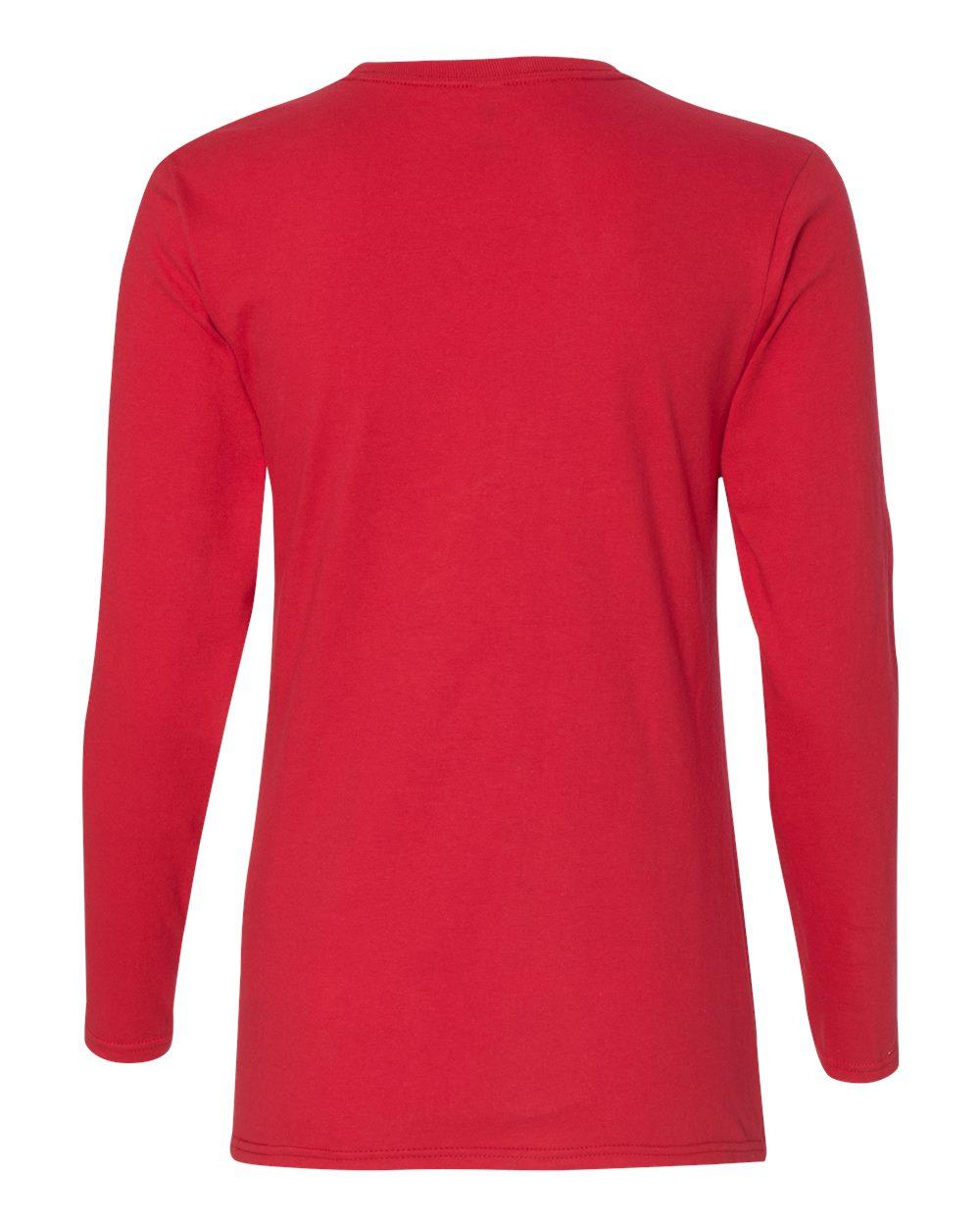 Anvil-Womens-Lightweight-Long-Sleeve-T-Shirt-884L-Size-S-2XL thumbnail 26