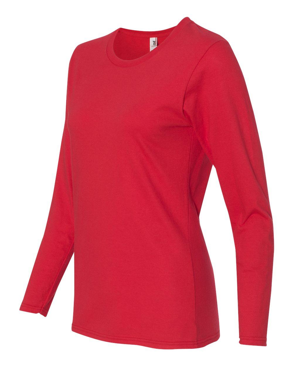 Anvil-Womens-Lightweight-Long-Sleeve-T-Shirt-884L-Size-S-2XL thumbnail 25