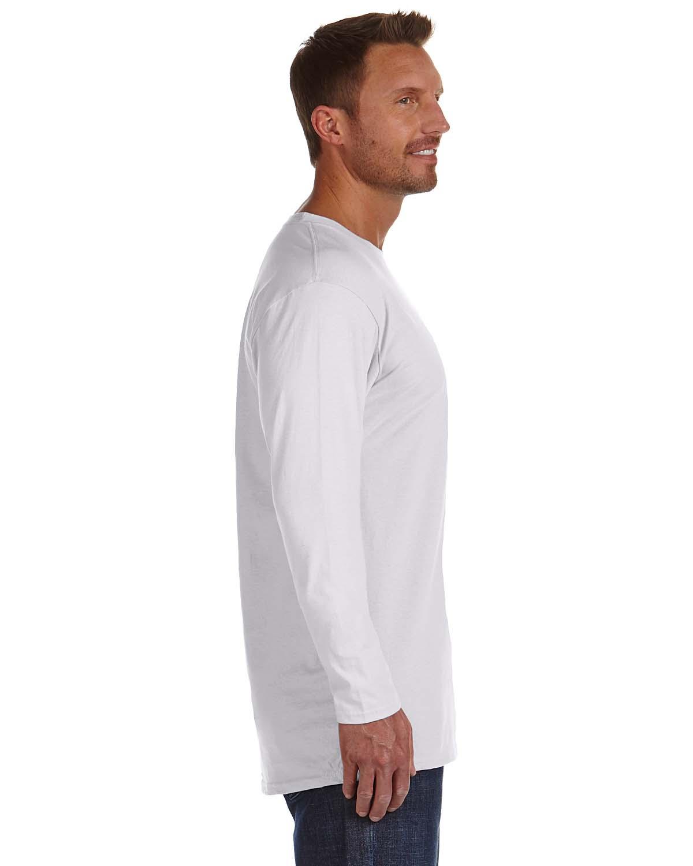 931adb0b Hanes Men's 4.5 oz. 100% Ringspun Cotton nano-T Long-Sleeve T-Shirt ...