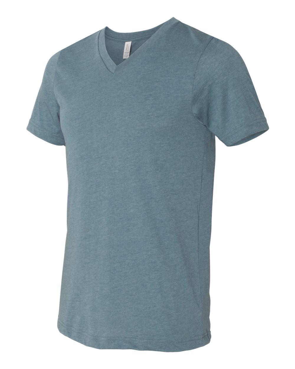 Bella-Canvas-Men-039-s-Jersey-Short-Sleeve-V-Neck-T-Shirt-3005-XS-3XL thumbnail 124