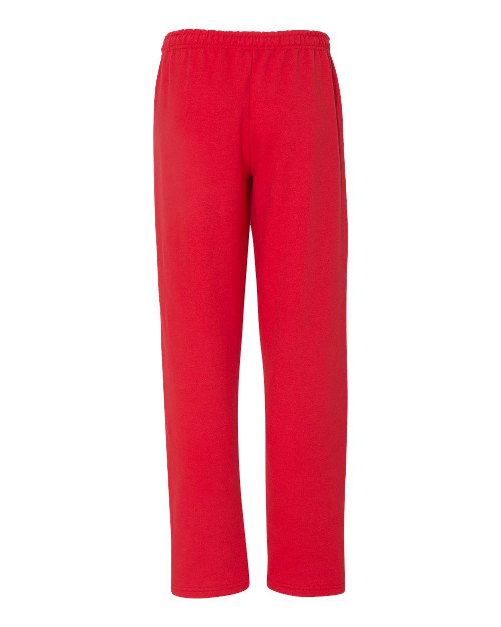 3814fea85433 Gildan Men s Heavy Blend Open Bottom Sweatpants With Pockets G183 S ...