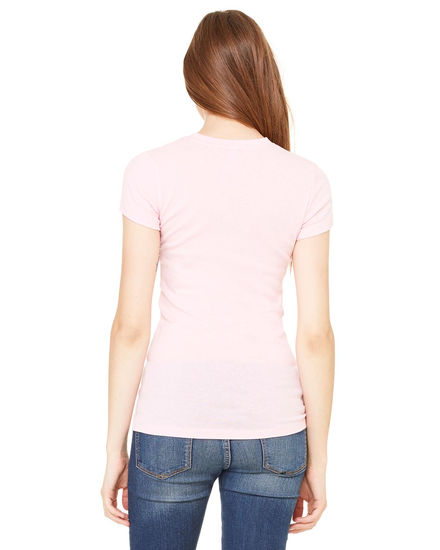 Bella-Canvas-Women-039-s-Sheer-Mini-Rib-Short-Sleeve-T-Shirt-8701-S-2XL thumbnail 7