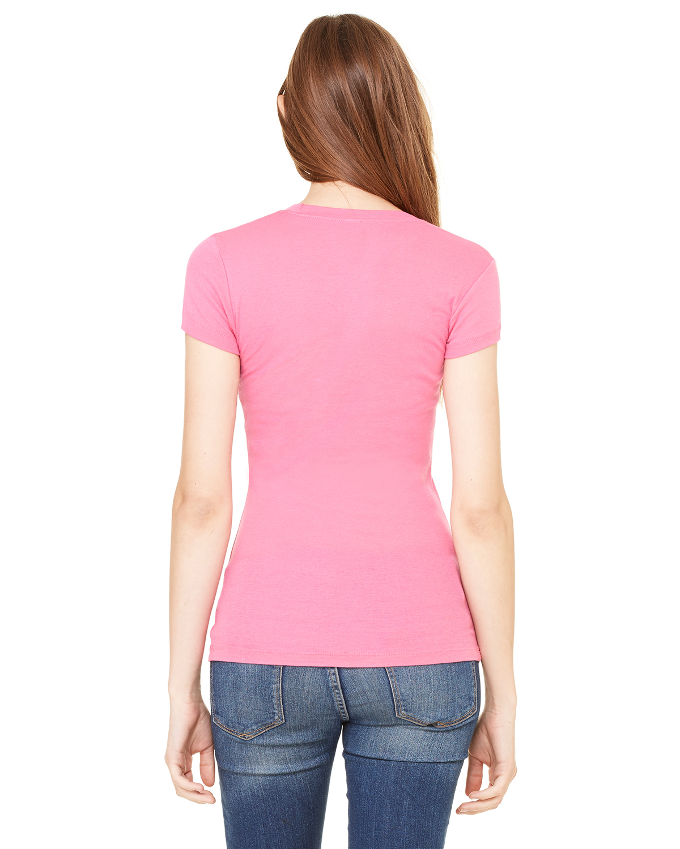 Bella-Canvas-Women-039-s-Sheer-Mini-Rib-Short-Sleeve-T-Shirt-8701-S-2XL thumbnail 28