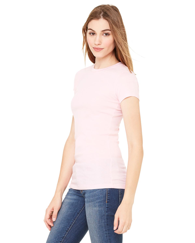 Bella-Canvas-Women-039-s-Sheer-Mini-Rib-Short-Sleeve-T-Shirt-8701-S-2XL thumbnail 6
