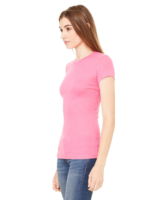 Bella-Canvas-Women-039-s-Sheer-Mini-Rib-Short-Sleeve-T-Shirt-8701-S-2XL thumbnail 27