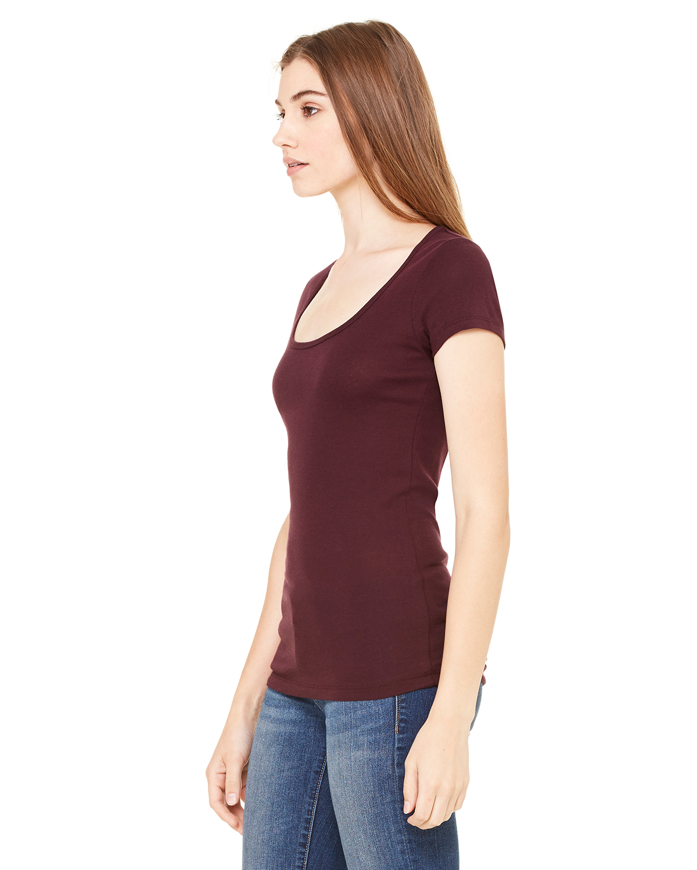 Bella-Canvas-Women-039-s-Sheer-Mini-Rib-Short-Sleeve-Scoop-Neck-T-Shirt-B8703-S-2XL thumbnail 14