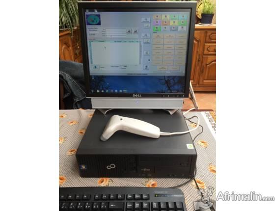 PC avec logiciel de facturation / caisse