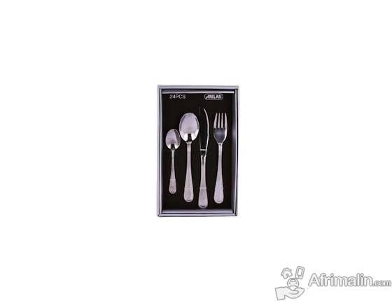 Accessoire : Couverts en acier inoxydable 24 pièces ( Anilar )