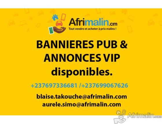 Achetez vos Bannières publicitaires & annonces VIP sur Afrimalin