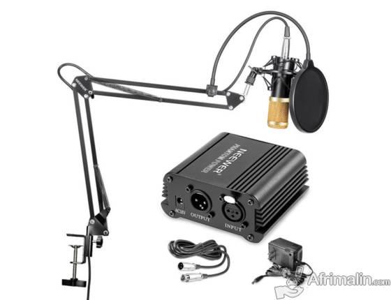 Kit Microphone Neewer 800 avec  tout ses accessoires et alimentation fantôme