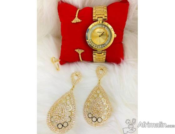 Bracelet Montre et Boucles d'oreilles